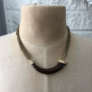 Jewelry - Lydell NYC Gold Italian Horn Multi-Strand Necklace